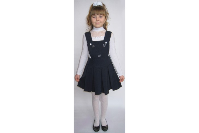 sezonmoda.ru - Сарафан в школу модель